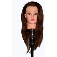 "20-22"" Cosmetology Mannequin Manikin Training Head With Human Hair - Helen"