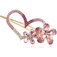 Ibeauty(TM) Fashion Love Heart Jewelry Crystal Hair Clips Hairpin - For Hair