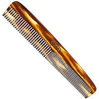 Kent Hand-Made 192mm Large Size, Coarse/Fine Hair Dressing Table Comb - 9T