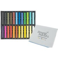 Simply Beautiful Hair Chalks - 24 Non Toxic Temporary Hair Dye Colour Soft