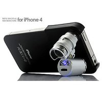 60X Zoom LED Cell phone Mobile Phone Microscope Micro Lens for Apple iPhone 4 4s
