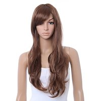 Cool2day Stunning Long Natural Curly Wig+wig Cap (Model: Jf010023) (Light Brown)