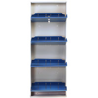 Space Saving Wall Mounted Shoe Rack By PRAB (4 Shelf Blue)