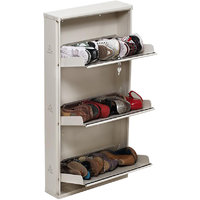 Foldable Space Saving Shoe Rack By PRAB ( Jumbo 3 Shelf White)