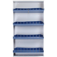 Space Saving Wall Mounted Shoe Rack By PRAB (Jumbo 4 Shelf Blue)