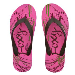 Foxy Mango Pink & Brown Women's Flip Flops