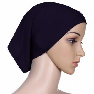Hijab TUBE CAP BLACK Under Scarf Abaya Muslim Inner Islamic Wear Women Attire Men Bonnet Hair Band Head Cover Chemo