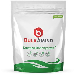 Advance Nutratech Bulkamino Creatine Monohydrate Unflavored 500 Grams(1.1Lbs)