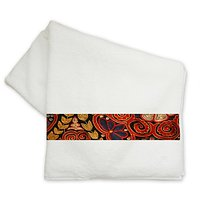 Designer Red Flower -Bath Towel