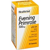 HealthAid Evening Primrose Oil 500mg With Vitamin E - 30 Capsules