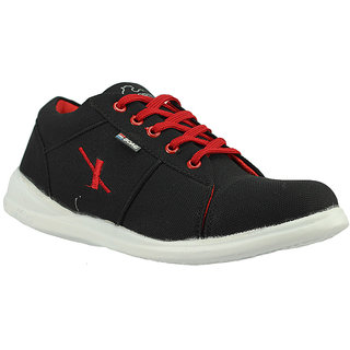 Foot Gear 24 Black & Red Men Casual Shoes