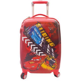 Texas USA 18 inch Kids CARS Printed Polycarbonate 4 wheel Trolley Bag