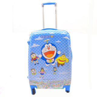 Texas USA 18 inch Kids DOREMON Printed Polycarbonate 4 wheel Trolley Bag