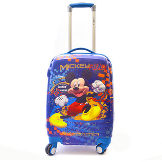 Texas USA 18 inch Kids MICKY MOUSE Printed Polycarbonate 4 wheel Trolley Bag