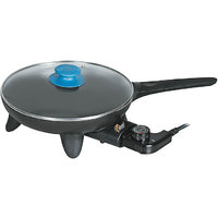 Multipurpose Non Stick Electric Frying Pan With Temperature Controller - Black