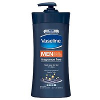 Vaseline Men, Body & Face Lotion, Fragrance Free, 20.3Ounce
