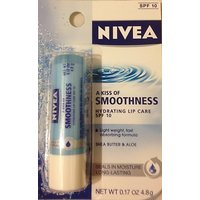 Nivea A Kiss Of Smoothness Hydrating Lip Care, SPF 10, 0.17 Oz (Pack Of 4)