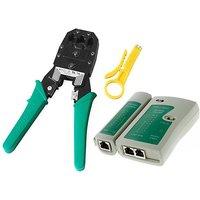 Lan Tester + Crimping tool Combo Pack