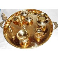 Traditional Brass Pooja Thali