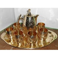 Brass Lemon Set Pack Of 6 Glasses (Hand-Art Work)