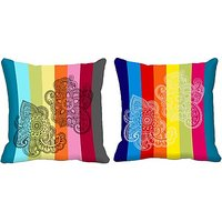 Dual Combo 2pc Digitally Printed Cushion Cover