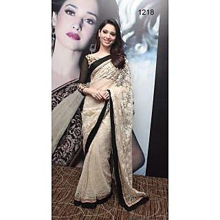 Tamanna Bhatia In Designer Net Saree