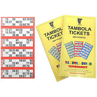 Tambola Tickets: Red Border