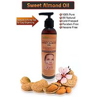 Sweet Almond Oil All Natural Cold Pressed Paraben & Hexane Free Pure