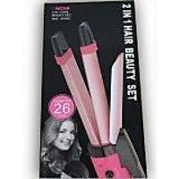 Nova Professional 2 In 1 Hair Curler Hair Straightener Nhc-1818sc - 4952632