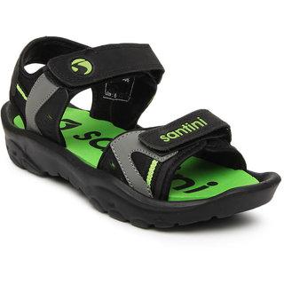 Santini Men Black Sports Sandals