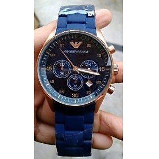 Emporio Armani Blue Womens Chronograph Watch