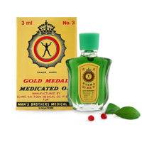 IMPORTED GOLD MEDAL MEDICATED OIL - 3 ML (COMBO PACK OF 6)