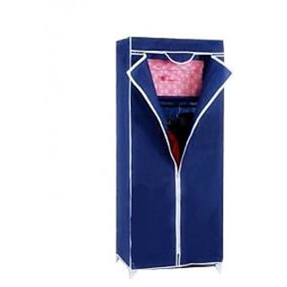 gizmodealz Single Door Metal Folding Foldable Wardrobes Cupboard Almirah Multicolor available at ShopClues for Rs.1199