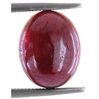 5.88 Ct Oval Cabochone New Burma Red Ruby Stone