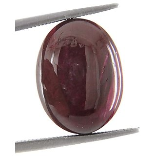 17.34 Ct Certified Oval Cabochone Ruby Gemstone