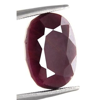 6.70 Ct Natural Oval Mixed Certified African Ruby Gemstone
