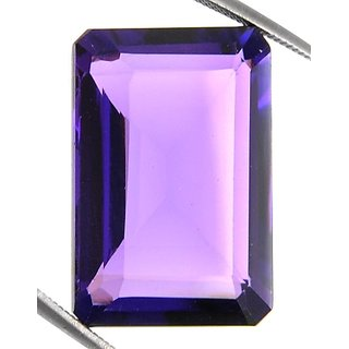 16.40 Ct Natural Emerald Cut Certified Amethyst Gemstone