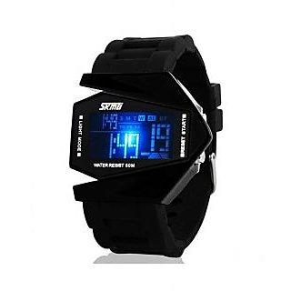 Skmei Imported Trendy Casual Digital PU Quartz Mens Watch - NWA05S019C0
