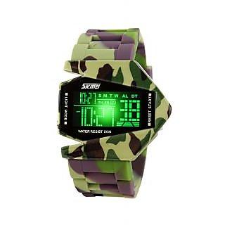 Skmei Imported Trendy Casual Digital PU Quartz Mens Watch - NWA05S020C0