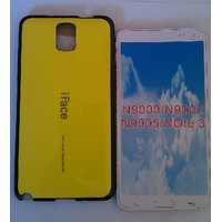IFace Silicon  Back Cover For Samsung Galaxy Note 3 /N9000/9005/9002-yellow