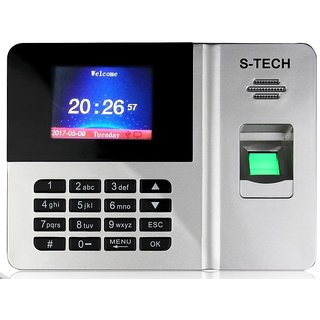 S-TECH STS05 Biometric Time Attendance Machine with TCP/IP Door Access (RFID Card +Finger Print) Include Battery Backup