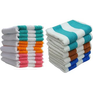 Xy Decor Cotton Hand Towel (Pack of 12 multicolour)paat12