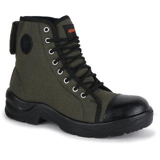 Sparx Men Olive & Black Casual Shoes (SM-9020)