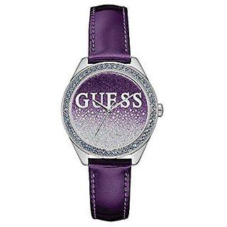 Guess Quartz Purple Round Women Watch W0823L4