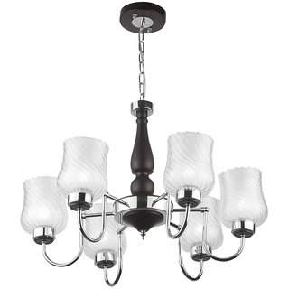 LeArc Designer Lighting Contemporary Glass Metal Wood Chandelier CH320