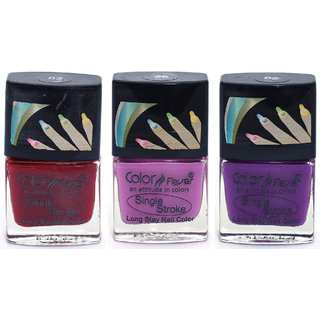 Color Fever Ultra Sparkle Nail Color - Red/Pink Pack of 3 (0.90 Oz)