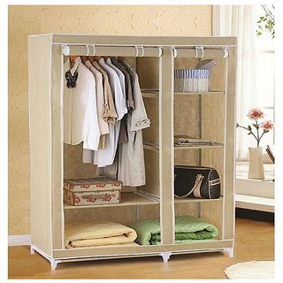 Foldable Collapsible Cupboard Storage Cabinate Almirah Rack Wardrobe