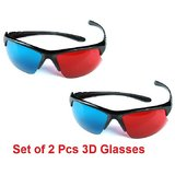 2 Pcs 3D Glasses Sports Frame Hq Plastic 3D Glass (SF2)