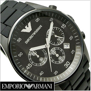 Emporio Armani Men's AR5889 Sport Chronograph Silicone Accent Black Dial Watch
