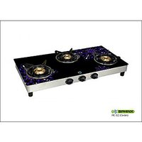 322 Sphinx 3 Burner Glass Top Gas Stove Fruitish Design